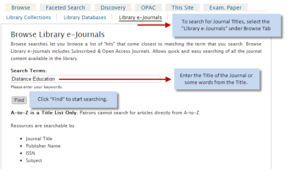 Browse e-Journals