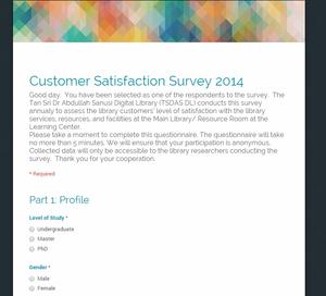 survey 2014